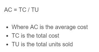 average cost formula