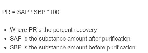 percent recovery formula
