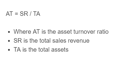 asset turnover ratio formula