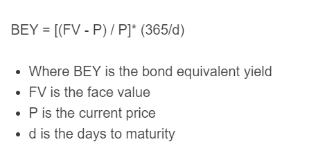 bond equivalent yield formula
