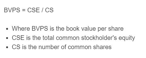 book value per share formula
