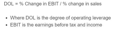 degree of operating leverage formula