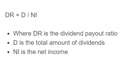 dividend payout ratio formula