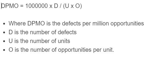 dpmo formula