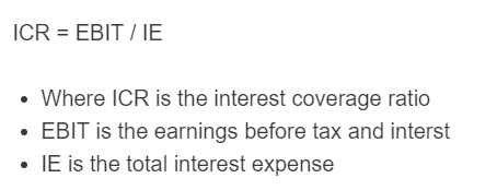 interest coverage ratio formula
