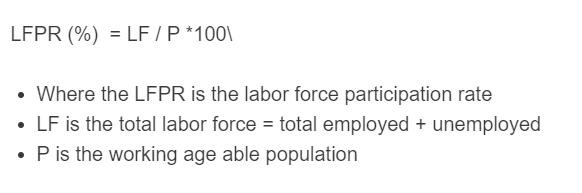 labor force participation rate formula