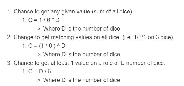 dice probability formula