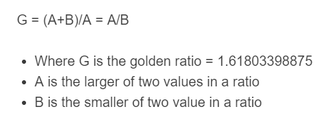golden ratio formula