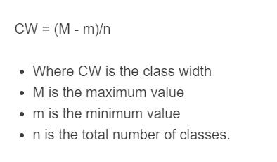 class width formula