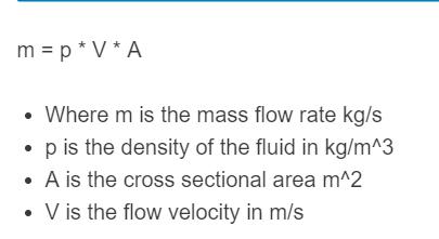 mass flow rate formula