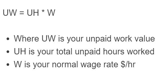 unpaid work formula