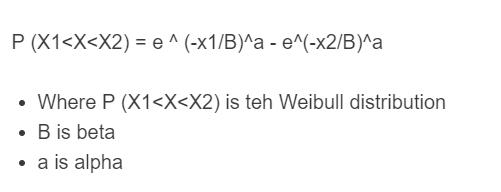 weibull distribution formula
