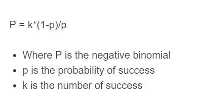 negative binomial formula