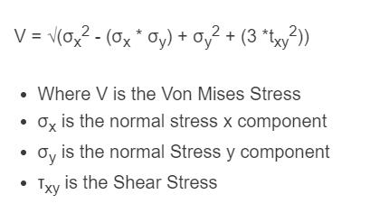 von mises stress formula