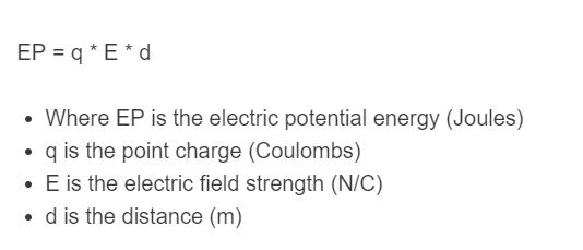electric potential formula