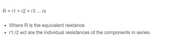 series resistance formula