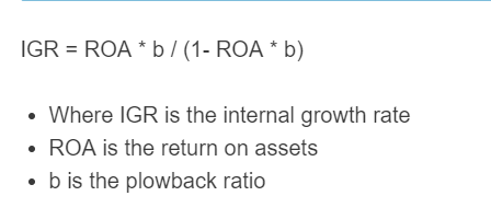 internal growth rate formula