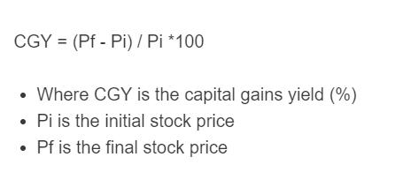 capital gains yield formula