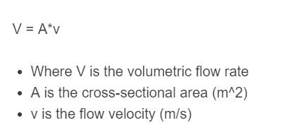 volumetric flow rate formula