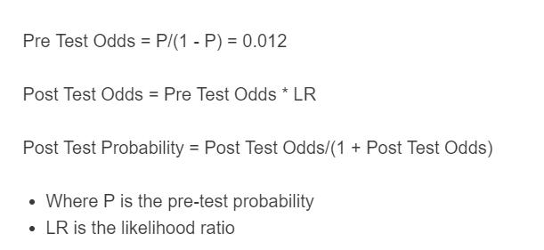 post test probability formula