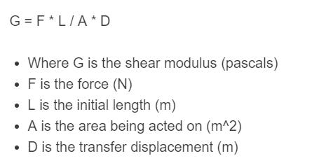 shear modulus formula