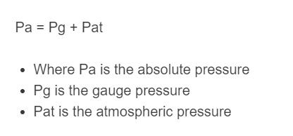 absolute pressure formula