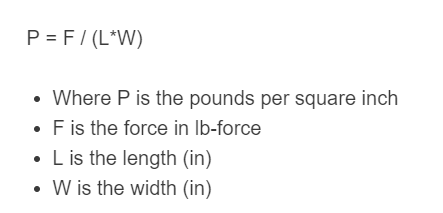 pounds per square inch formula