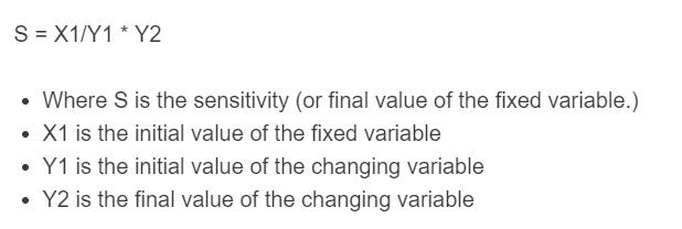 sensitivity analysis formula