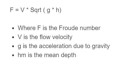 Froude number formula