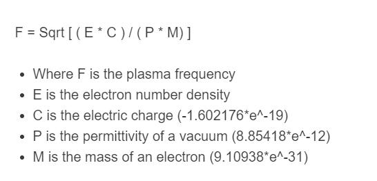 plasma frequency formula