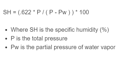 specific humidity formula