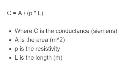 conductance formula