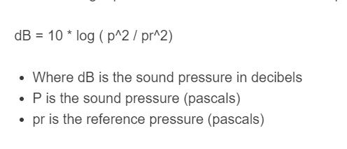 sound pressure level formula