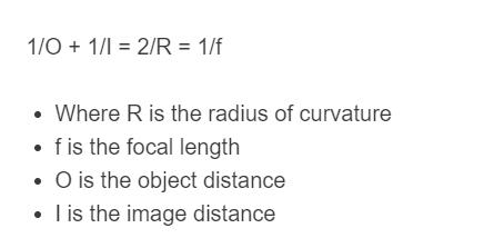 mirror equation formula