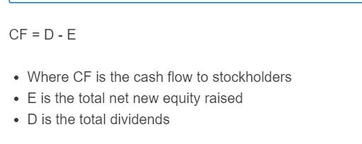cash flow to stockholders formula