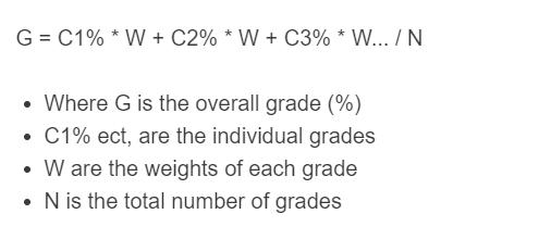 overall grade formula