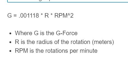 g force formula
