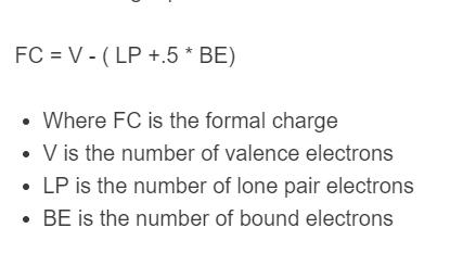 formal charge formula