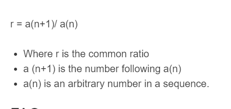 common ratio formula