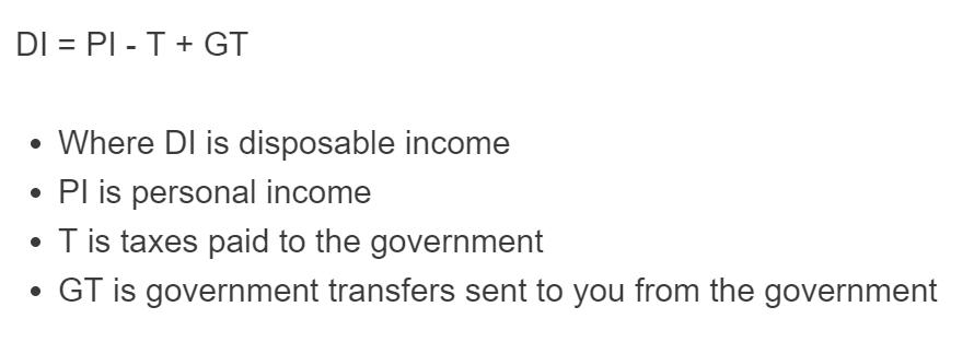 disposable income formula