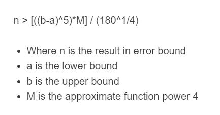 error bound formula