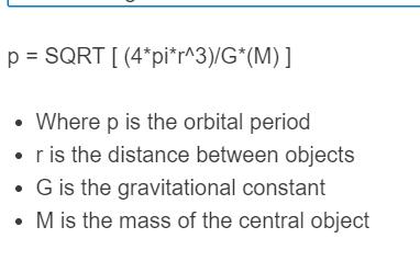 orbital period formula