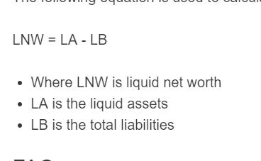 liquid net worth formula