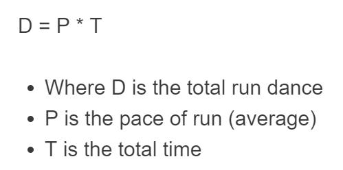 run distance formula