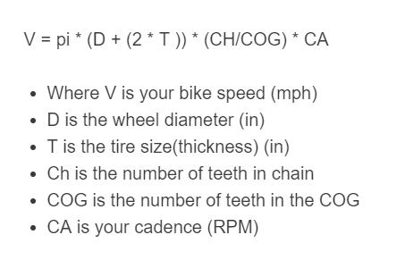 bike speed formula