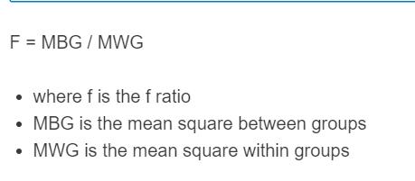 f ratio formula