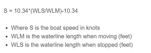 boat speed formula