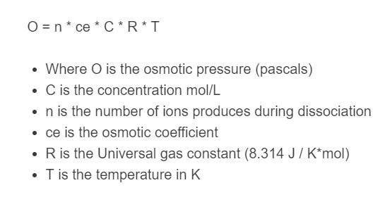 osmotic pressure formula