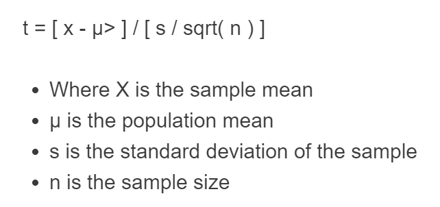 t statistic formula