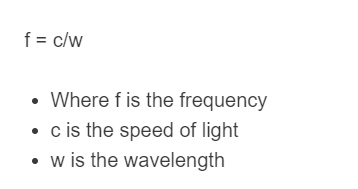 frequency of light formula
